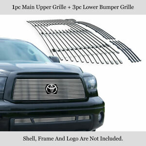 Fits 2010 2013 Toyota Tundra Billet Grille Grill Insert Combo