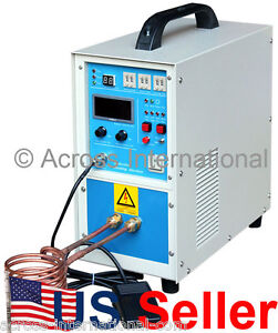 15kw 30 80khz All Solid State Induction Heater Heating Melting Furnace System