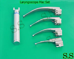 Laryngoscope Macintosh Set 1 Handle Aa 4 Mac Blades