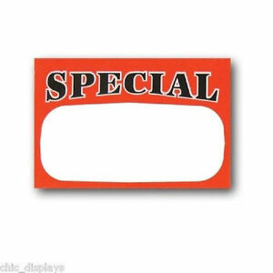 1000 Pc Retail Store Special Price Signs tags