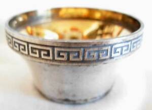Russian Gilt Silver 916 Open Salt Cellar 39 Grams
