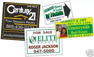 10 Custom Lawn Signs Yard Sign Real Estate Signs