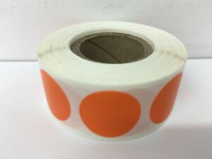 12 Rolls 500 Each Roll 1 Inch Round Color Coded Inventory Dots Labels 2