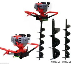 One Man 52cc 2hp Gas Post Planting Soil Hole Digger Epa W 10 6 Auger Bits