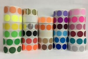 20 Rolls 500 Label Each Roll 2 Inch Round Color Coded Inventory Stickers Dots