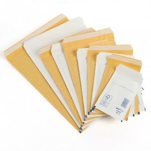 Gold Or White Padded Bubble Envelope Small Lite Mailing Bag A B C Cd All Sizes