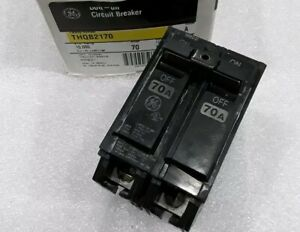Thqb2170 General Electric Circuit Breaker 2pole 70amp 240vac New