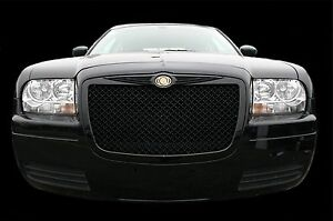 Fits 2005 2010 Chrysler 300 Black Bentley Mesh Grille Chrome Bently Grill