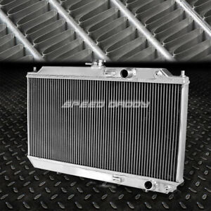 Dual Core Full Aluminum Race 2 Row Cooling Radiator 90 93 Acura Integra Da9 Db2
