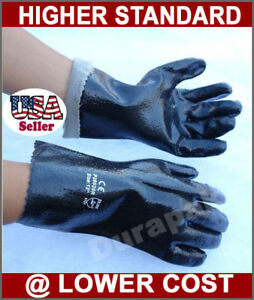 120 Pair Pvc 12 Chemical Liquid Water Resistance Long Wrist Work Gloves Large