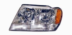 For 1999 2004 Jeep Grand Cherokee Limited Driver Side Headlight Lh