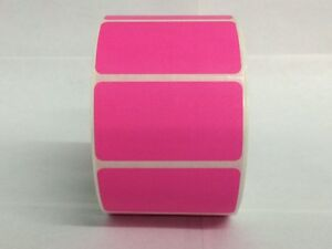 Pink 2 25 x1 25 Direct Thermal Barcode Zebra Eltron 6 Rolls 1000 roll
