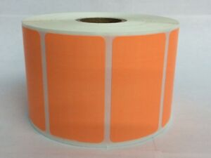 Orange 2 25 x1 25 Direct Thermal Barcode Zebra Eltron 6 Rolls 1000 roll