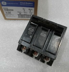 Thqb32030 General Electric Circuit Breaker 3pole 30amp 240vac New