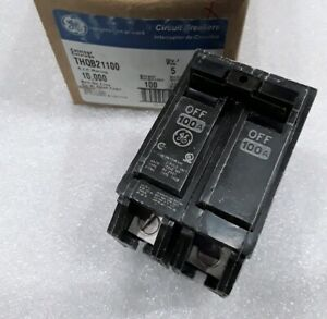 Thqb21100 General Electric Circuit Breaker 2 Pole 100amp 240 Vac New