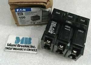Br3100 Cutler Hammer Circuit Breaker 100amp 3 Pole 240 Vac New