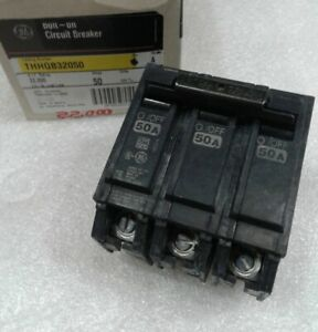 Thhqb32050 General Electric Circuit Breaker 3 Pole 50 Amp 240 Vac New