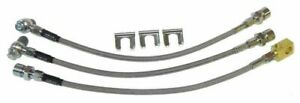 64 72 Chevelle Gto Judge 442 W30 Gs Disc Stainless Braided Steel Brake Hose Set