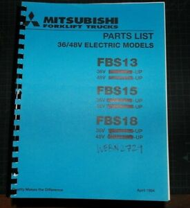 Mitsubishi caterpillar Fbs13 Fbs15 Fbs18 Forklift Parts Manual Book Spare Cat