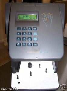 Handpunch 2000 Hand Punch Time Clock Hp 2000 Hp 2000 rs232 Schlage Biometric