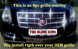 2008 2011 Cadillac Cts Chrome Grille Insert Grill Overlay Trim