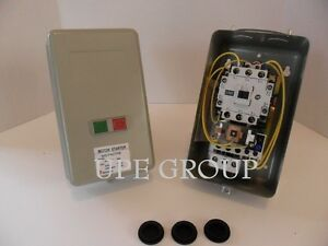 Magnetic Motor Starter 7 5hp 1ph W Push Button On Off Switch
