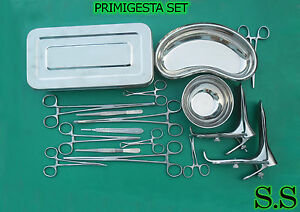 Primigesta Set Of 23 Pcs Surgical Instruments Ds 1126