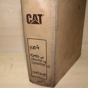 Cat Caterpillar 140g Motor Grader Repair Shop Service Manual Owner Operator Oem