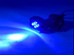 Blue 4 Led Motorcycle Car Boat Home Pod Light Bright Kit Glow And Street 12v