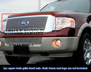 Fits 2007 2011 Ford Expedition Billet Main Upper Grille Insert