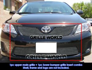 Fits 2011 2013 Toyota Corolla Billet Grille Combo Insert