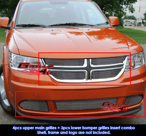 Fits 2011 2012 Dodge Journey Billet Grille Insert Combo