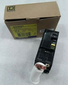 Square D Qo240gfi New In Box Ground Fault Plugin Circuit Breaker 2p 40a 120 240v
