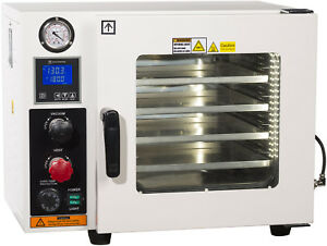 Ai 5 Sided 0 9 Cf 110v Vacuum Oven W St St Tubing Oil fill Gauge 2 yr Warranty