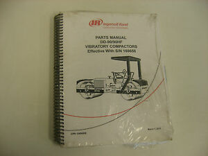 Ir Dd 90 90hf Double Drum Compactor Parts Manual Mint Condition