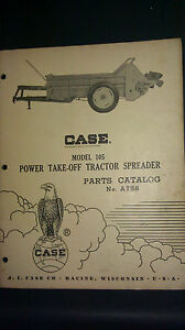 Vintage Case Model 105 Pto Tractor Spreader Parts Catalog No A758