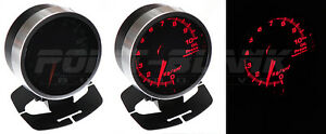 60mm Electronic Oil Pressure Gauge Red Backlit Defi jdm Style
