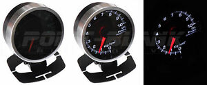 60mm Electronic Oil Pressure Gauge White Backlit Defi jdm Style
