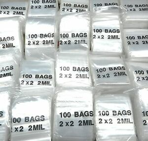 10000 Ziplock Bags 2 X 2 Clear Reclosable Zip Lock 2mil Bulk10 000 2x2 Baggies