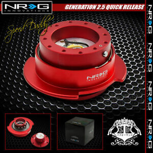 Universal Nrg Steering Wheel Short 6 hole Gen 2 5 Quick Release Adaptor Kit Red