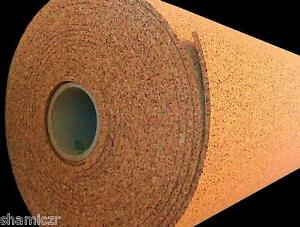 30 x4 x1 4 thick Cork Roll Bulletin Message Board Panel Acoustic Sheet Wall Tile