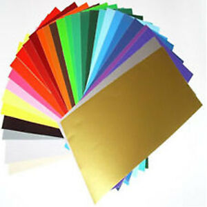 100 X A4 Sheets Matt Self Adhesive Vinyl Any Colour Sign Making Vinyl Craft Robo