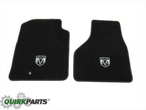 2009 2012 Dodge Ram Front Set Of 2 Premium Carpeted Floor Mats W ram Head Logo