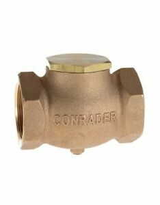 New 1 5 Cast Brass Horizontal Check Valve Air Compressor In Line Vertical