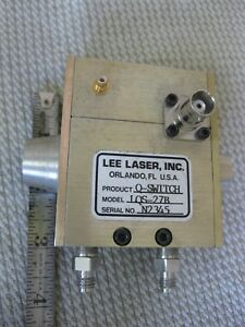 Lee Laser Q switch Model Lqs 27b Liquid Cooled Made In Usa