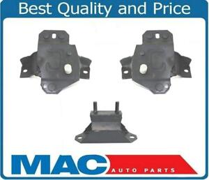 For 1984 1993 Ford Mustang 5 0l V8 Convertible Only 3pc Motor Mounts 100 New