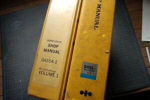 Komatsu D455a 1 Bull dozer Repair Shop Service Manual Tractor Crawler Engine Oem