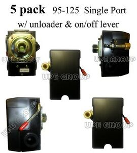 5 Pack Pressure Control Switch Valve Air Compressor 95 125 Single Port 5 Pack L1