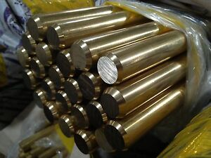 Brass Bar Stock 1 Round X 24 Length 2 Ft Length