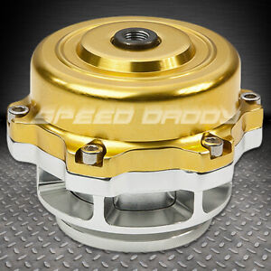 Universal Billet Aluminum 50mm Turbo Intercooler V Band Blow Off Valve Bov Gold